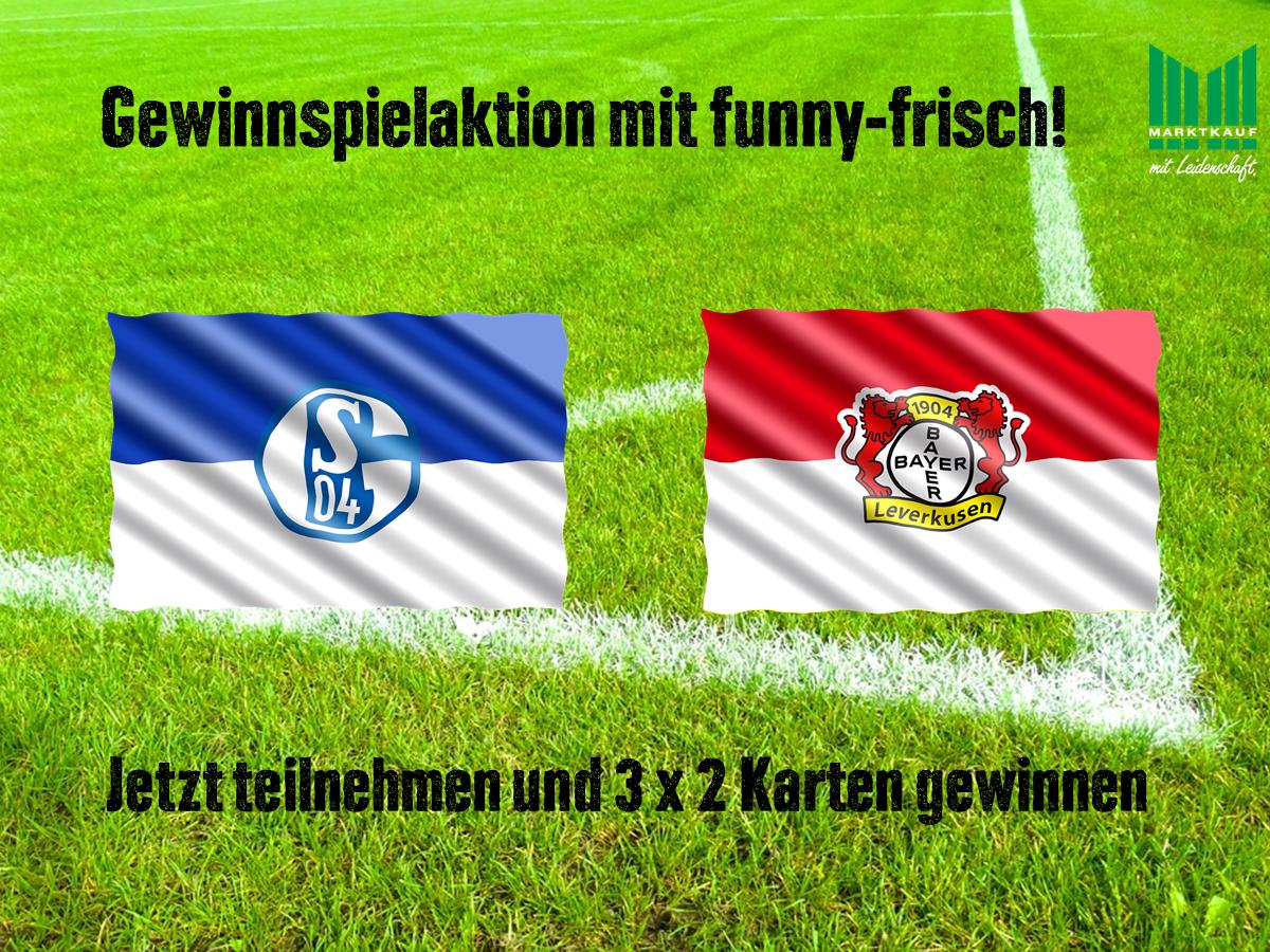 Gewinnen Sie Karten für Schalke gegen Leverkusen am 19.12.