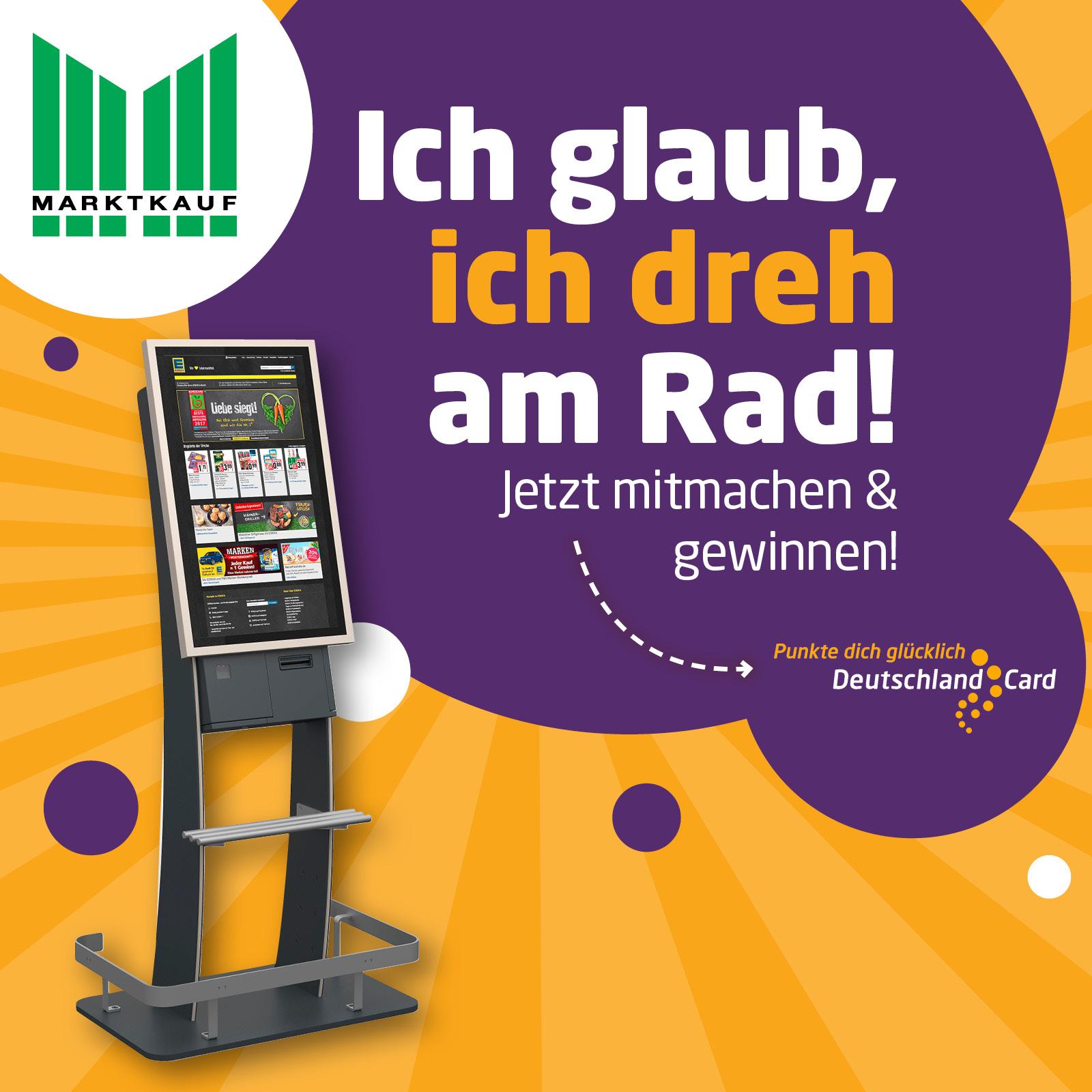 DeutschlandCard Glücksrad in deinem Markt - punkte dich glücklich