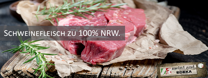 100 % Schweinefleisch aus NRW.